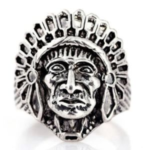 Other - Native Indian Chief Head Chieftain Headman Ring